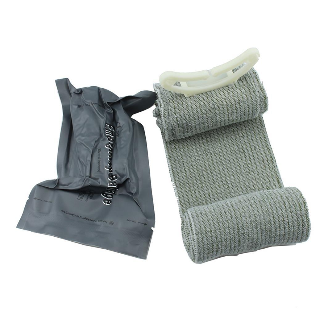 Outdoor First Aid Wound Hemostatic Emergency First Gray Aid Compression BandageOutdoor First Aid Wound Hemostatic Emergency First Gray Aid Compression Bandage