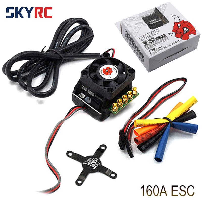 SKYRC TORO TS160A 160A 2 3S Aluminum Brushless Sensored ESC For 1:10 RC Car Support 2 3s LiPo Battery