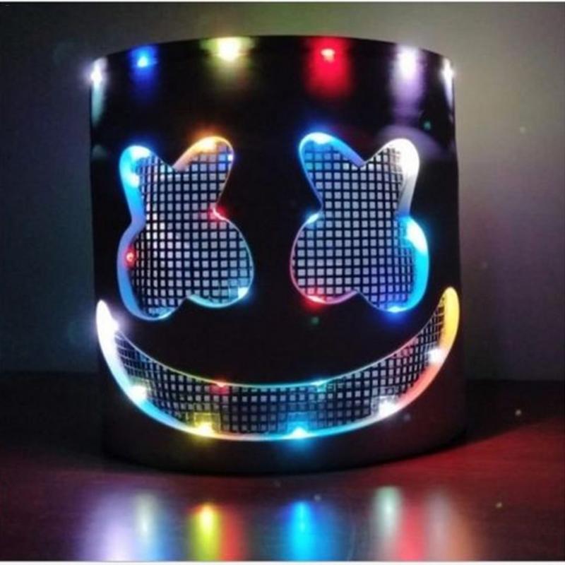 LED clignotant casque scène Performance masque casque musique Festival accessoires masque halloween fête d'anniversaire décorations adulte