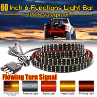 Truck Tailgate Light Bar 60 Waterproof 432 Led Tailgate Strip Light Reverse Taillight Brake Stop Turn Signal Warning Light