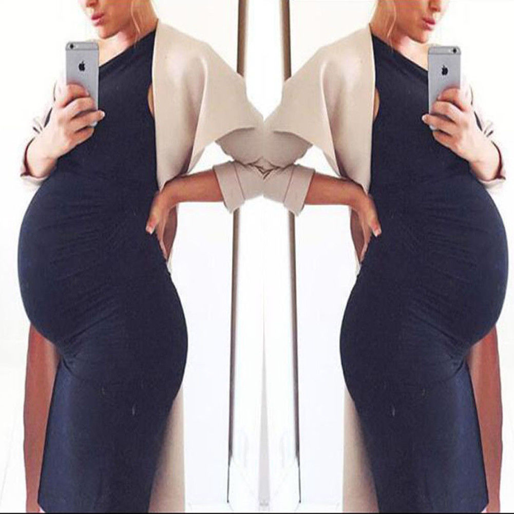 1a66400d7dc7a 2019 New Sleeveless Pregnant Women Maternity Modal Dress O neck Pregnancy  Clothing Photography Bodycon Dress-in Dresses from Mother & Kids on  Aliexpress.com ...