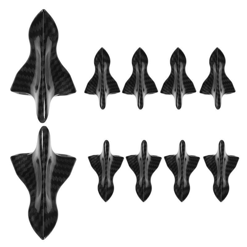Top10 Racing Car ABS Black Roof Shark Fin Spoiler Wing Vortex Generator Universal 10pcs//lot