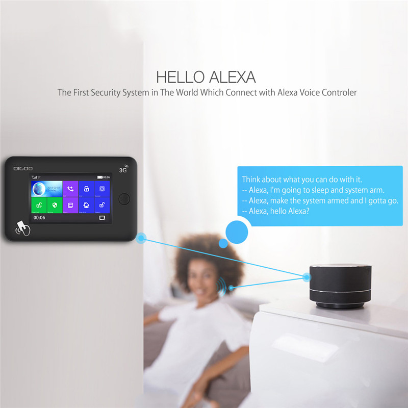2019 Upgraded Digoo Dg-hama Wireless 3g Version Smart Home Security Alarm System Kits Support App Control Work With Amazon Alexa Home Automation Kits