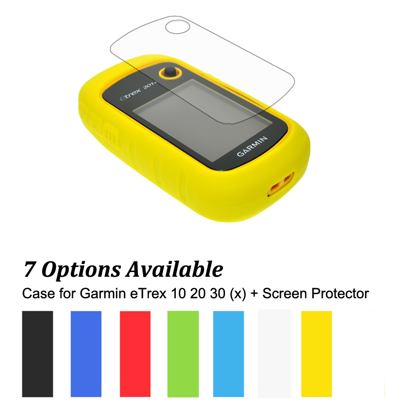 Hiking Handheld GPS Navigator Accessories Silicon Rubber Case + LCD Screen Protector for Garmin eTrex 10 20 30 10x 20x 30x 201xHiking Handheld GPS Navigator Accessories Silicon Rubber Case + LCD Screen Protector for Garmin eTrex 10 20 30 10x 20x 30x 201x