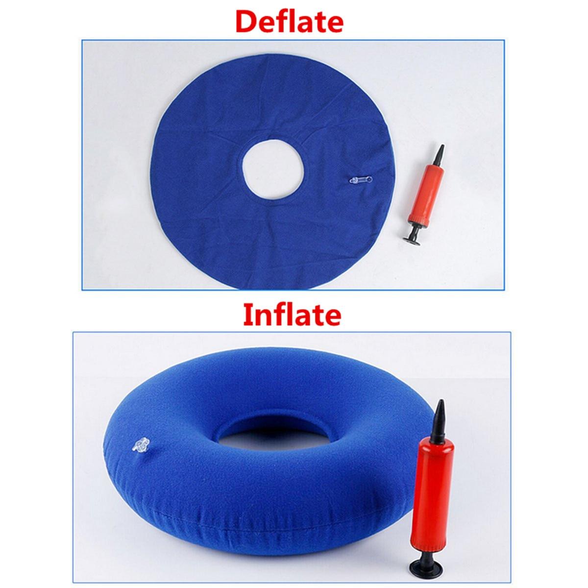 35cm Inflatable Ring Round Medical PVC Seat Donut Cushion Air Pillow Anti Hemorrhoid