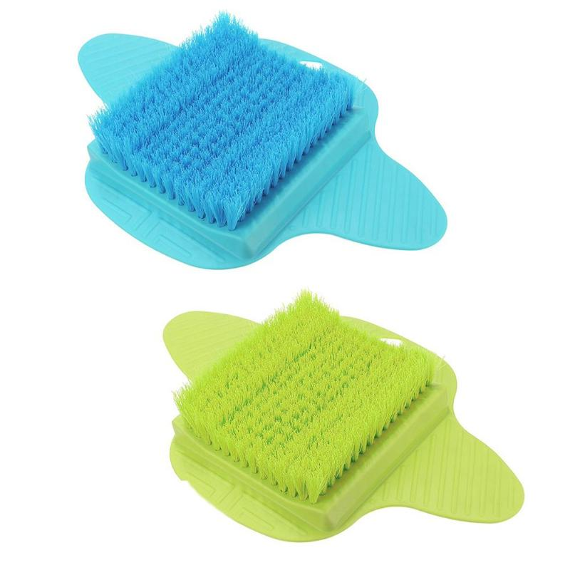 Image 2 - Plastic Bath Shower Foot Brush Scrubber Bath Shoe Feet Massage Slippers Brush Scrub Exfoliating Spa Shower Remove Dead Skin-in Cleaning Brushes from Home & Garden