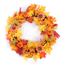 1pc Wall Front Door Wreath Porch Doorway Entry Staircase Garland Decoration Wreath for Autumn Christmas Thanksgiving Holiday(China)