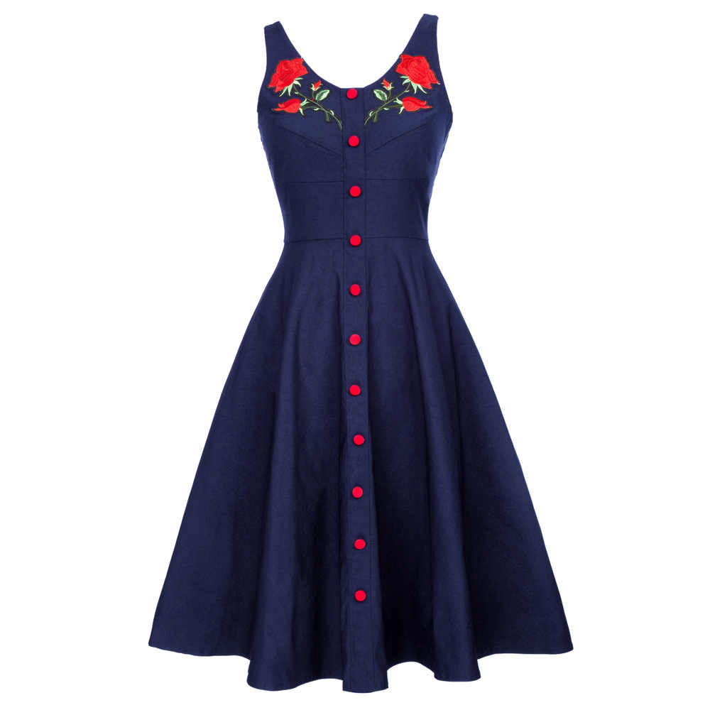 2801d4e640fff Detail Feedback Questions about Vintage Summer Dresses 2018 Rose ...