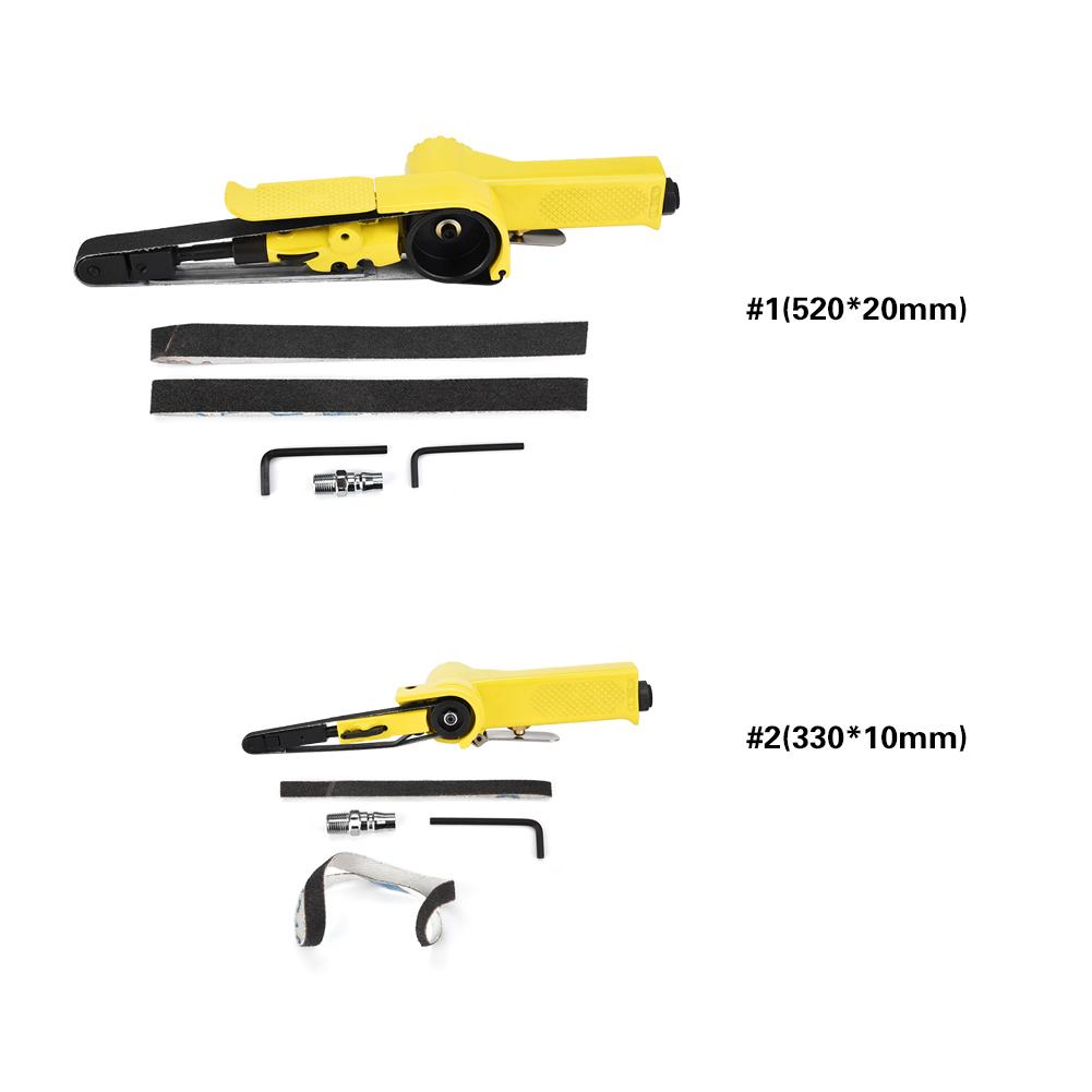 Pneumatic Sanders Tools Belt Polisher Machine 330 10mm 520 20mm Air Belts Sander 2019 new style