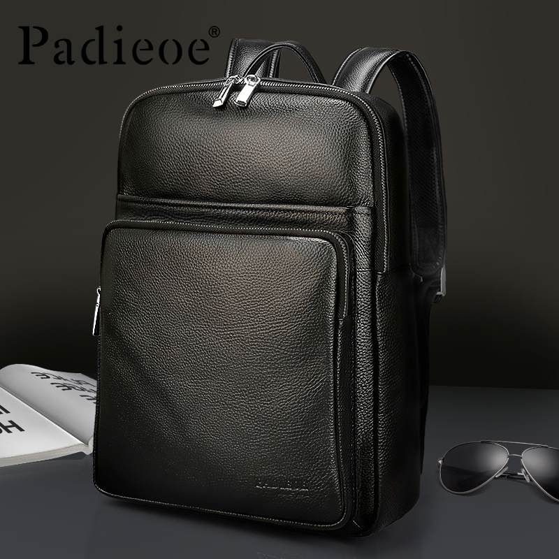 Padieoe men backpack bookbag mens bag genuine leather luxury college back pack fashion waterproof travel luggage bag laptopPadieoe men backpack bookbag mens bag genuine leather luxury college back pack fashion waterproof travel luggage bag laptop