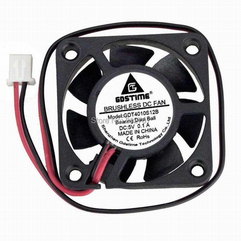 5Pcs 24V 2-Pin DC Cooling Fan 40mm 40x40x10mm 4cm 4010s Mini Brushless Cooler