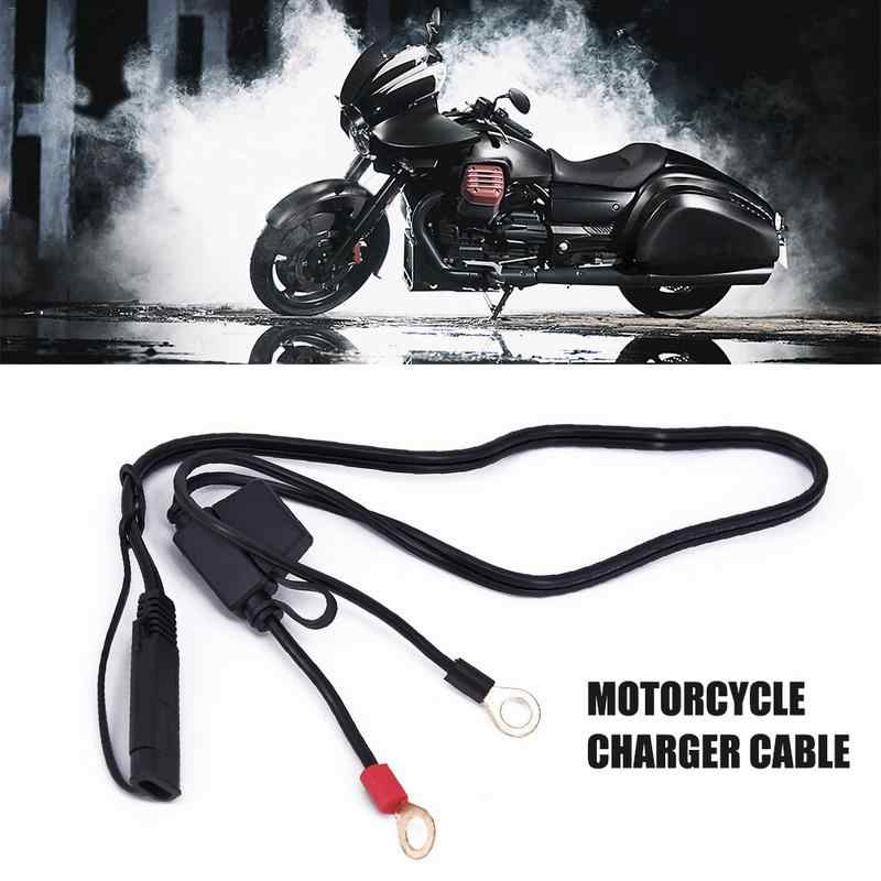 Waterproof Motorcycle 12V SAE To USB Interface Charger Cable Adapter Kit Inline Fuse Accessories For Phone GPS