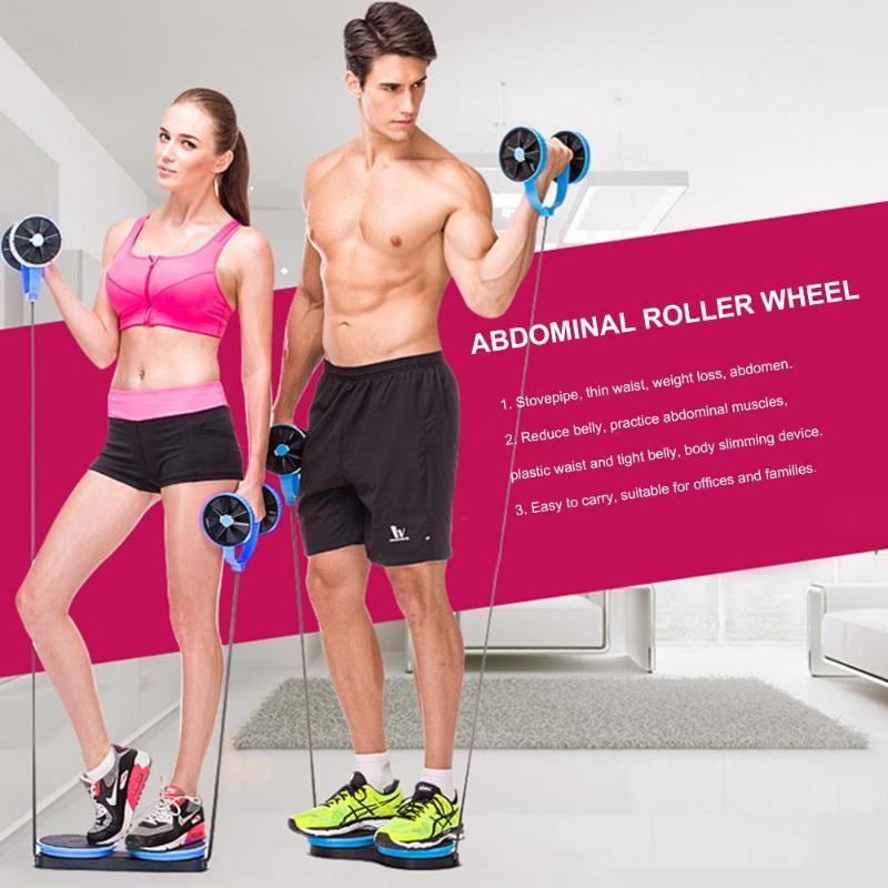 Ab Roller roue abdominale formateur roue bras taille jambe exercice multifonctionnel équipement de Fitness adapté aux familles de bureaux