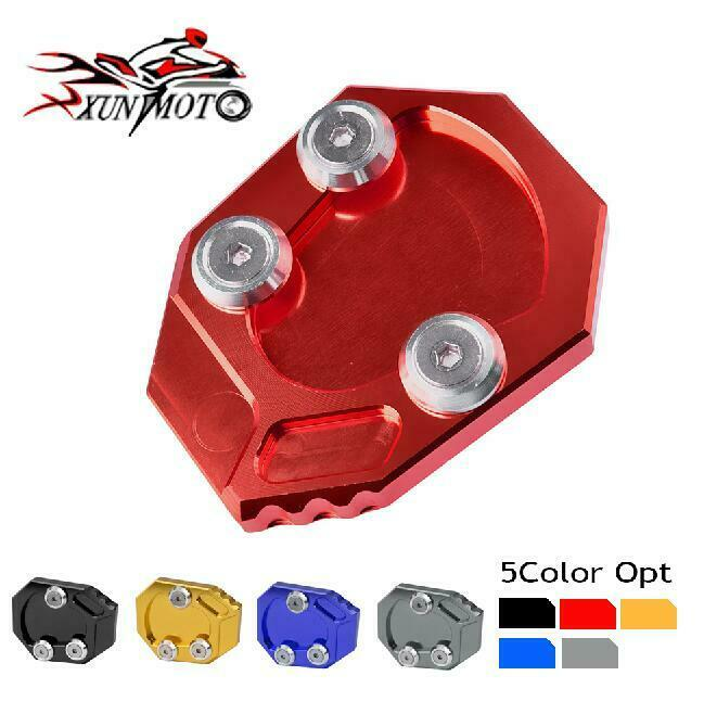 Kickstand Side Stand Extension Plate Pad For Yamaha YZF R1 2009-2015 2010 2012
