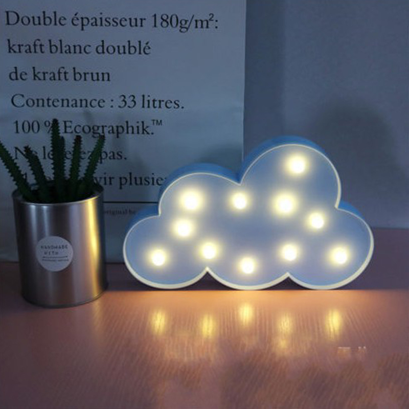 IKVVT Novel Cute 3D Cloud LED Night Light Wall Lamp Baby Kids Bedroom Home Decor Gifts in LED Night Lights from Lights Lighting