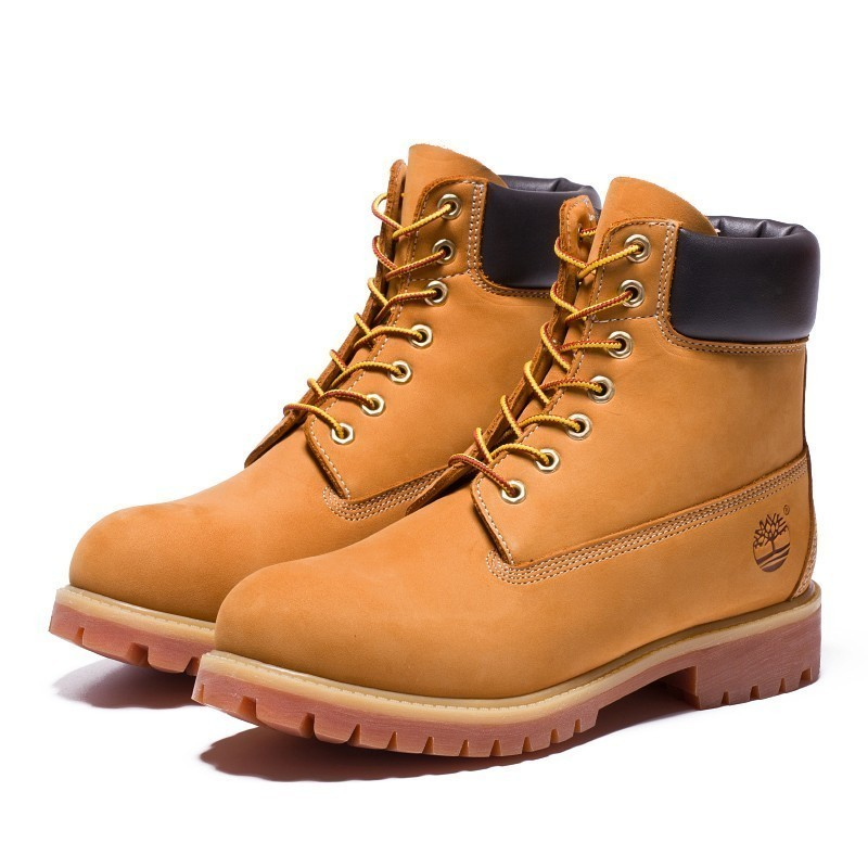 US $142.8 16% OFF|TIMBERLAND Classic Men 6 Inch Premium Waterproof Boots For Male Nubuck Genuine Leather Ankle Wheat Yellow Shoes 10061 in Basic Boots