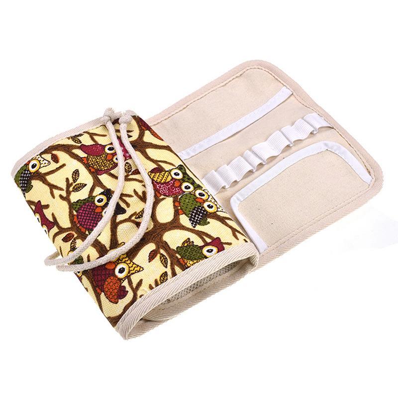 Crochet Hook Knitting Tool Bag Crochet Hook Case Zipper Storage Bag Organizer Tools Portable Case Organizer Holder #SO