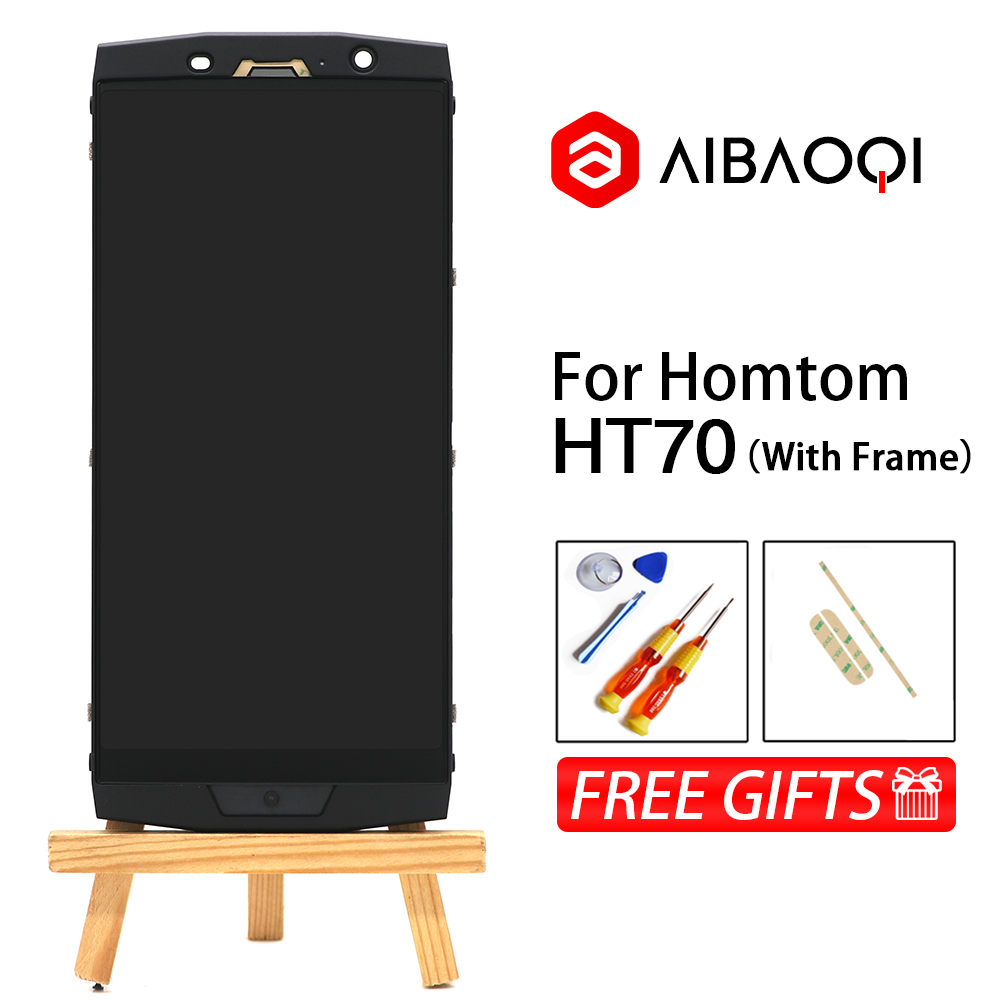 AiBaoQi New Original 6 0 inch Touch Screen 1440x720 LCD Display Frame Assembly Replacement For Homtom