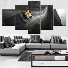 Modern HD Printed Wall Artwork Canvas Modular Pictures 5 Pieces Extreme Sports Painting Home Decorative Dakar Rally Car Poster
