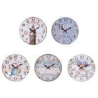 30 cm Ahşap Yuvarlak duvar saati Asılı Vintage Sessiz 3D Sessiz Saat duvar saati Retro Görünüm Tasarım Zanaat Ev Ofis Dekor