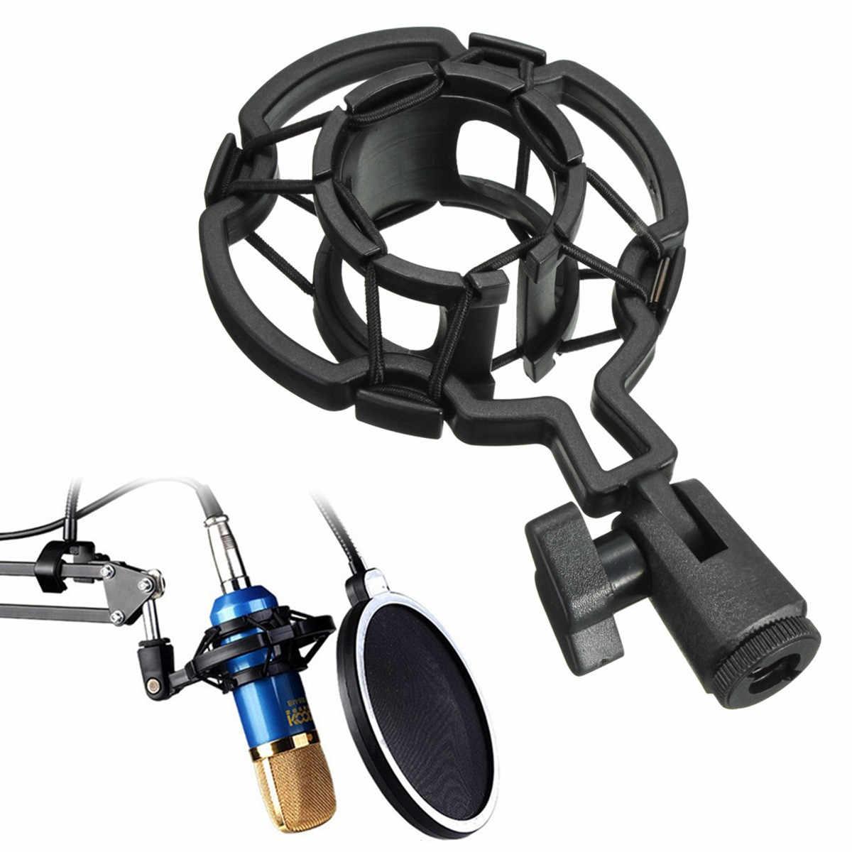 Микрофон Микрофон Shock Mount Holder Универсальный студийный для большой Diaphram конденсаторный микрофон клип пластиковый микрофон Подвеска запись