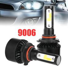 1 Pair Car Headlight LED Bulb 9006 250W 25000LM 12V 24V Auto Headlamp COB Fog Light Bulb Kit White 6000K/yellow 3000K/Blue 2000K стоимость