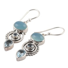Vintage Charms Korean Style Women Crystal Drop Earring Silver Color Alloy Shellhard Sexy Jewelry bisuteria mujer