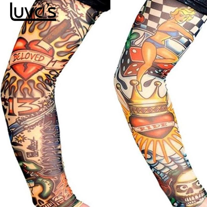 Strict Fashion Tattoo Arm Leg Sleeves Sun Protection Cycling Halloween Party Uv Protection Sleeves 100% High Quality Materials Men's Accessories