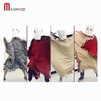 Polar Fleece Fabric Crazy Blanket Home /Dance /Sleeping Bag Uses Blankets Multifunctional Cloak Creative Personality Blanket