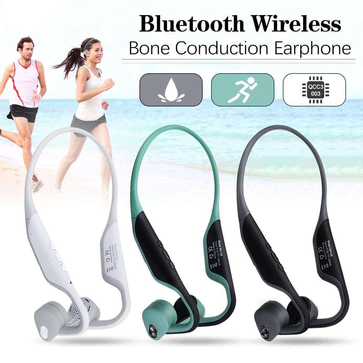 Casque sans fil à Conduction osseuse bluetooth 5.0 casque écouteur stéréo casque
