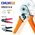 6-6 0.25-6mm 23-10AWG Hexagon & 10S 0.25-10mm 23-7AWG Quadrilateral Tube Bootlace Terminal Crimping Pliers Crimp Hand Tools HSC8