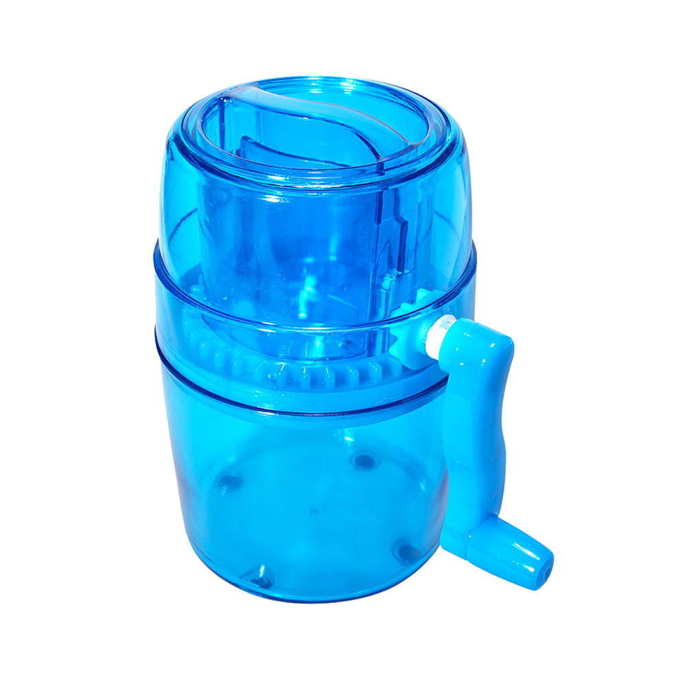 1L Portable Hand Crank Manual Ice Crusher Shaver Kids Shredding Snow Cone Maker Machine Kitchen