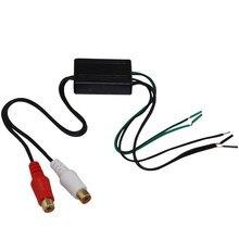 1pc alto-falante do carro para 2 rca linha conversor de saída de alto a baixo nível linha amplificador de saída conversor adaptador autopeças