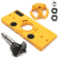 1set 35MM Cup Style Hinge Boring Guide Door Hole Locator Jig Drill Set For Kreg Tool Accessories