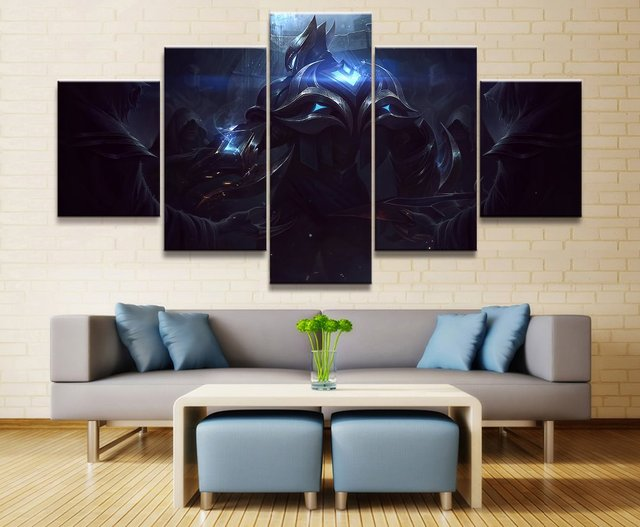 5 Panel LOL League of Legends Zed Game Canvas Printed Painting For Living Room Wall Art Home Decor HD Picture Artworks Poster 1