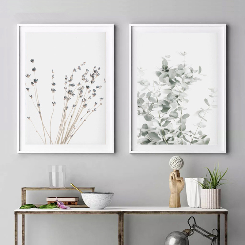 Lavender Eucalyptus Posters Botanical Canvas Painting Farmhouse Wall Decor Art Pictures Bedroom Decoration Scandinavian Decor image