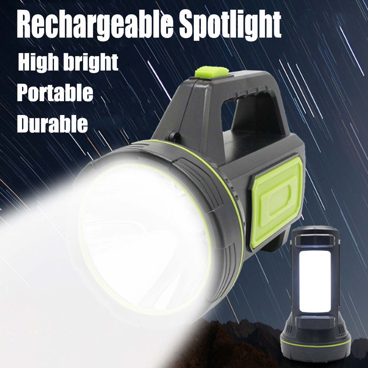 United Powerful Led Flashlight Rechargeable 10w Eu/u.s Lights & Lighting Regulations Outdoor Portable Spot Flashlight Waterproof Handy Hand Flashlight Led Flashlights