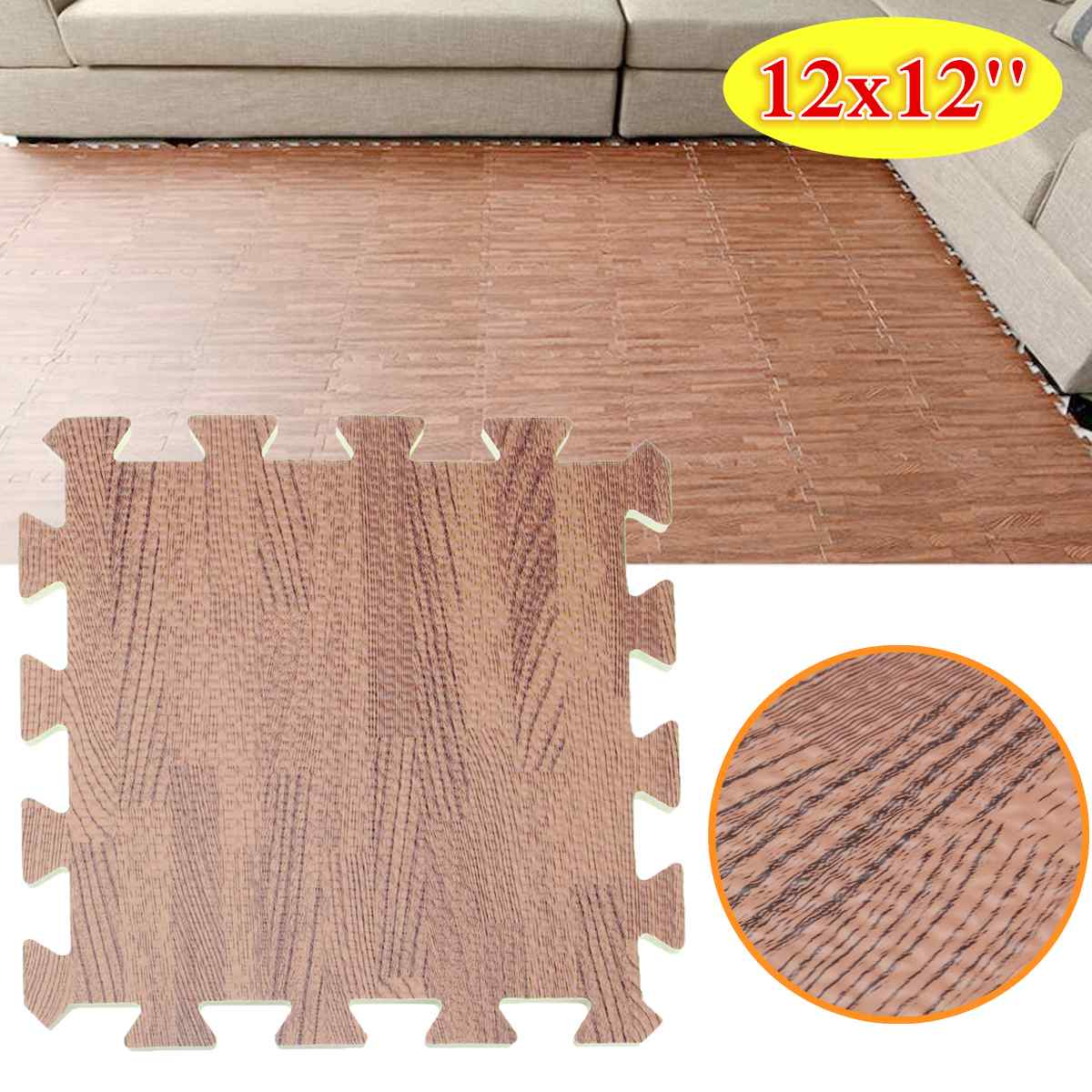 🛒 [HOT SALE] | ❤ 1 Pc 31x31x1 cm EVA Mousse Brun Facile De ...