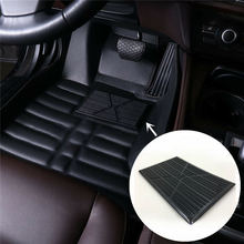 Universal Black PVC Car Floor Carpet Pad Heel Foot Mat Pedal Patch Cover 25x16cm Anti-skid