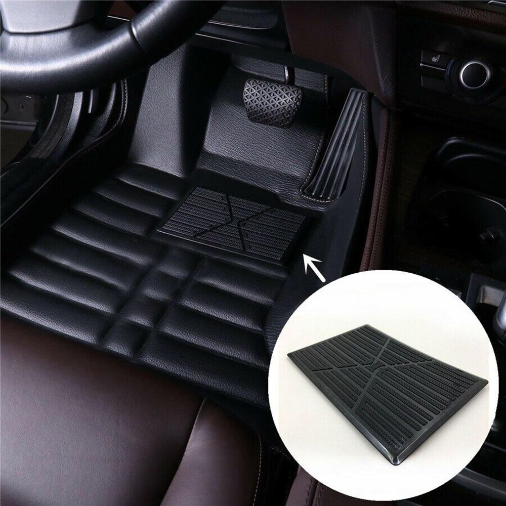 Universel noir PVC voiture tapis de sol Pad talon pied tapis pédale Patch couverture 25x16cm voiture tapis anti-dérapant pédale noir