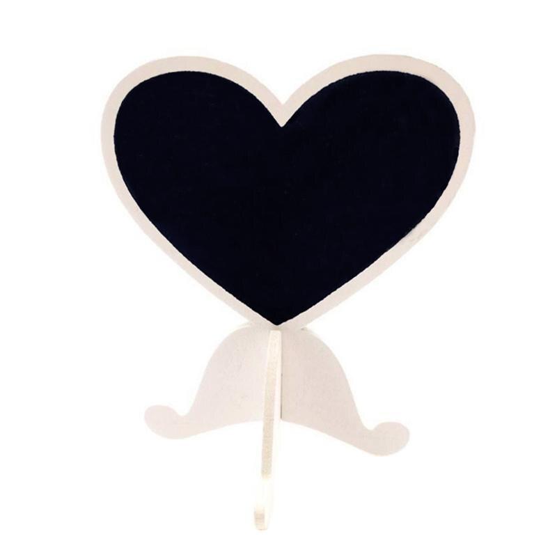 Betrouwbare 12 Stuks Mini Hart Houten Schoolbord Stand Met Stevige Basis Bord Tag Bericht Teken Voor Bruiloft Tafel Nummer Plaats Kaarten