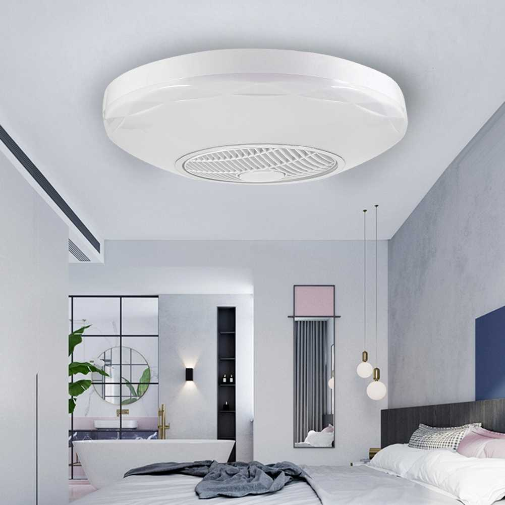 LED 60W Round Ceiling Light Fan With Led Lights For Livingroom Bedroom Office Fans With Remote Control