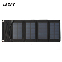 LEORY 7W USB Solar Power Bank Portable Solar Panels Battery Charger Camping Travel Folding For Phone