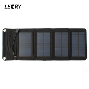 Image 1 - LEORY 7W USB Solar Power Bank Portable Solar Panels Battery Charger Camping Travel Folding For Phone Charging Kits