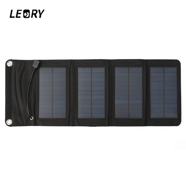Solar Power Battery Bank >> Leory 7w Usb Solar Power Bank Portable Solar Panels Battery Charger