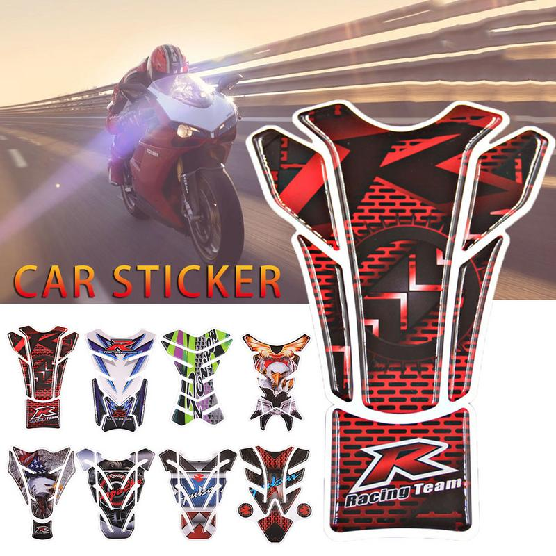 3D Motor Sticker Motorcycle Protector Sticker Gas Fuel Oil Tank Protection Stickers Personalized Stickers Knight Car Decal