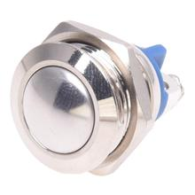 3A / 3V-250V push button switch 16 mm nickel-plated brass