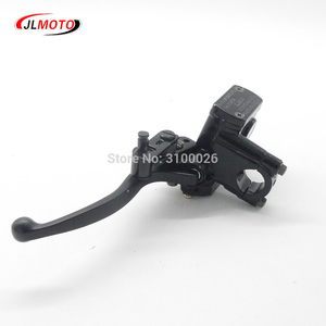Image 5 - Left Hand Rear Master Cylinder 7/8 Handlebar Hydraulic Brake Lever With Parking Brake & Stop Switch Fit For ATV Quad Bike Parts