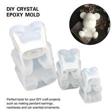 DIY Crystal Resin Silicone Mold Epoxy Gummy Bears Handmade Mirror Making Mold Kitchen Cake Dessert Biscuit Cookie Baking Tools printio i love gummy bears