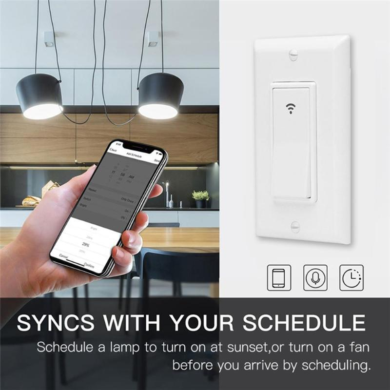 90-250V 16A Smart Light Switch Panel Wall Wireless WIFI Light Switch Remote Control US Button Switch
